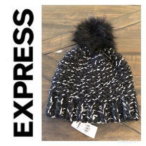 NWT Express Pom Pom beanie